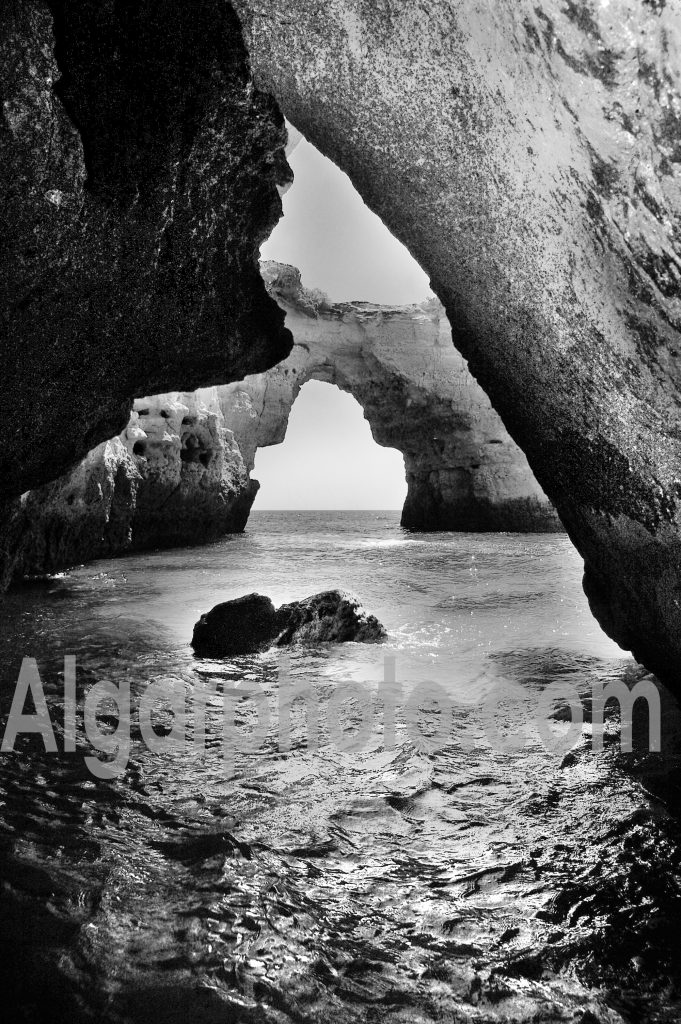 Algarve photography Albandeira Sea Cave portrait